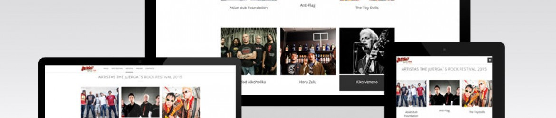 """Sección artistas de """"The Juerga's Rock Festival"""""""