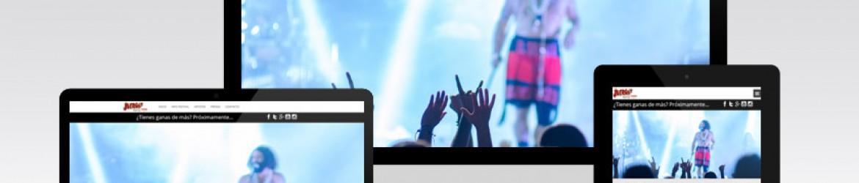 """Página de inicio de """"The Juerga's Rock Festival"""""""