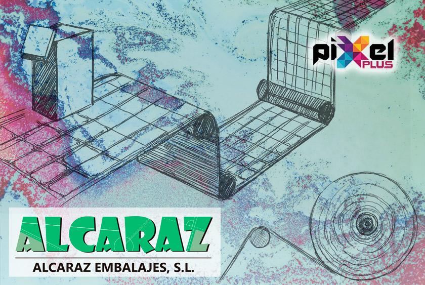 """Portfolio de """"Alcaraz Embalajes, Diseño Gráfico y Web por Pixel Plus Estudio Gráfico"""""""
