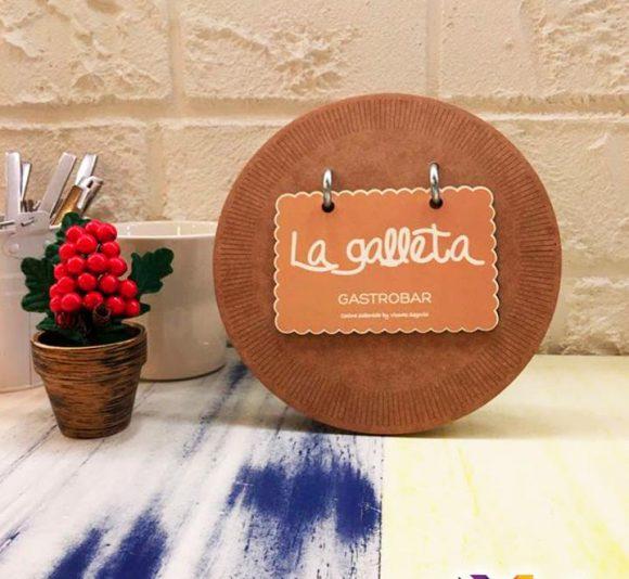 Diseño cartas La Galleta Gastrobar