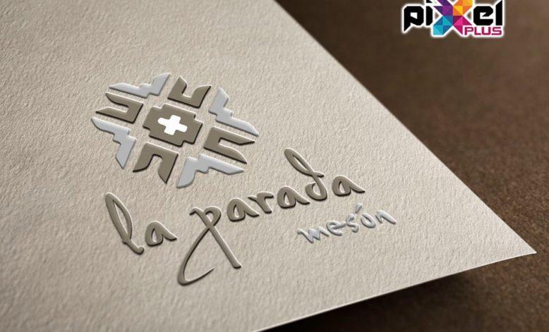 Diseño de logo y cartas Mesón La Parada