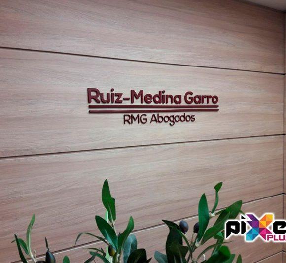 """Rotulación y Letras Corpóreas """"RMG Abogados"""""""