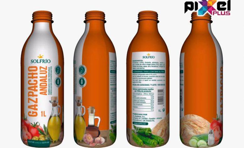 Diseño 3D Envase Gazpacho Andaluz Solfrío