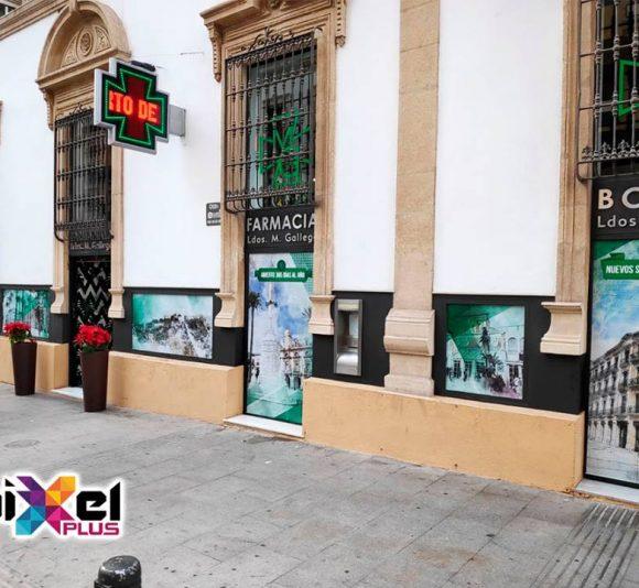Rotulación Farmacia Miguel Gallego