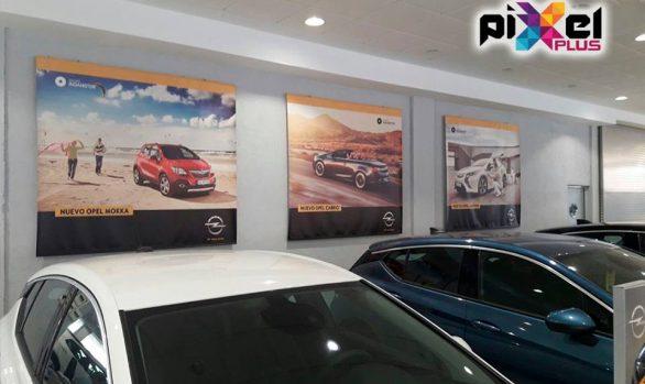 Doble perfil con tela tensada Indamotor Concesionario Opel