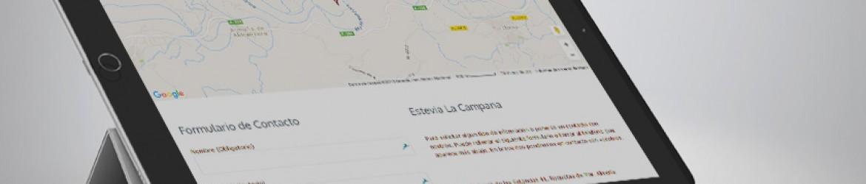 """Sección Contacto de """"Stevia La Campana, Diseñada por Pixel Plus Estudio Gráfico"""""""