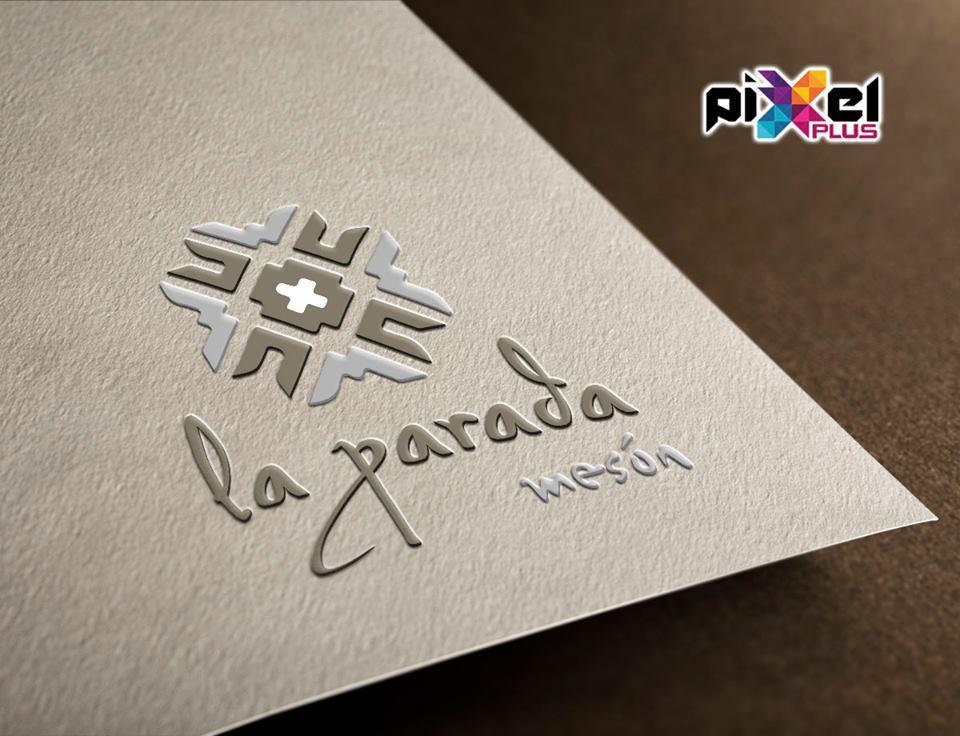 Diseño de logo y cartas Mesón La Parada. Diseño, branding por Pixel Plus