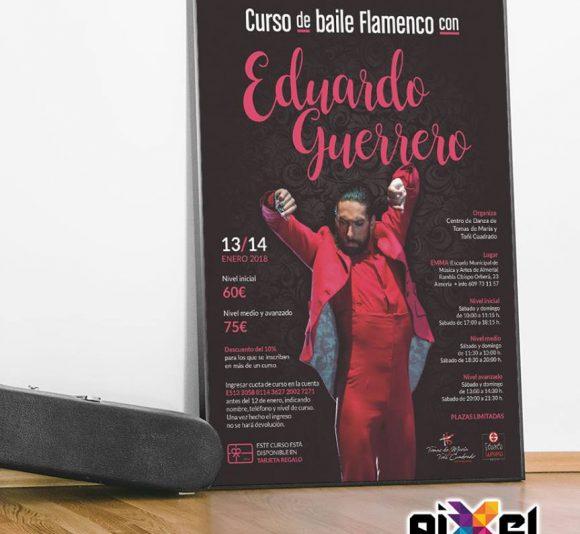 Cartel curso de baile flamenco