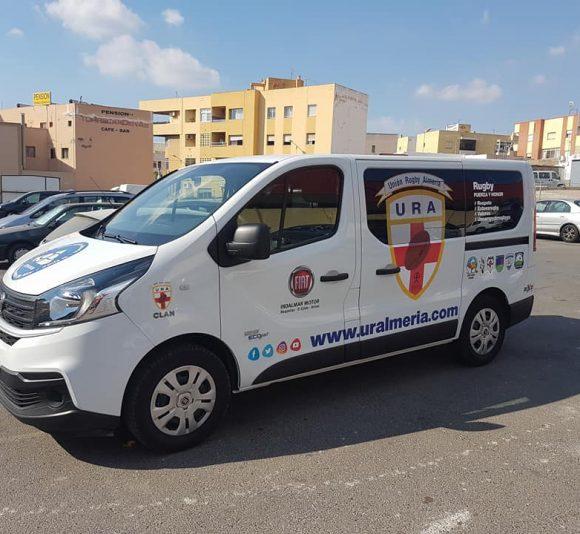 Rotulación vehículo Unión Rugby Almería