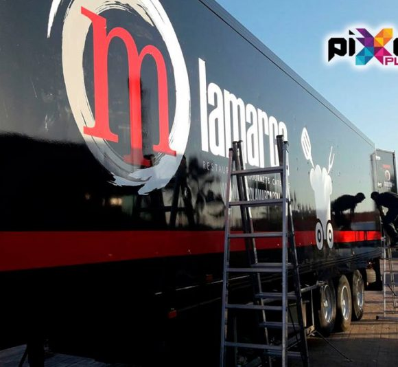 Rotulación camiones Grupo Lamarca